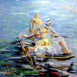 Boat 2 painting by Claudio Bindella