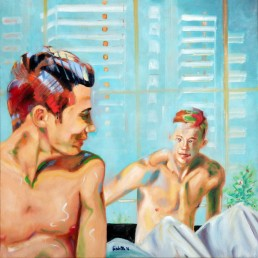 Happy together 3, painting by Claudio Bindella to support the equal rights law in Italy