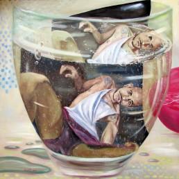 Reframing 5 painting by Claudio Bindella