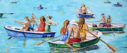 Boat 7 painting by Claudio Bindella
