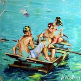 Boat 1 painting by Claudio Bindella