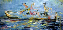 Boat 4 painting by Claudio Bindella