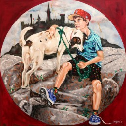 Childhood1 painting by Claudio Bindella