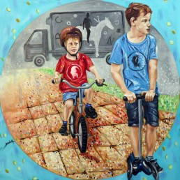 Childhood3 painting by Claudio Bindella