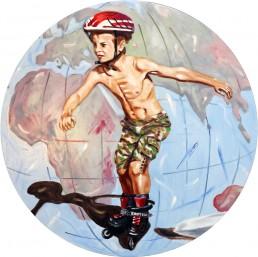 Childhood5 painting by Claudio Bindella