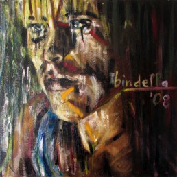 Dry painting portrait by Claudio Bindella