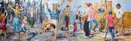 Street artists painting by Claudio Bindella