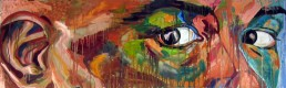 Strip 1 painting by claudio Bindella