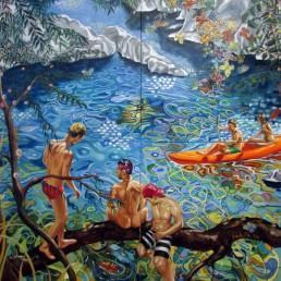 Summer painting by Claudio Bindella
