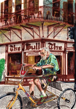 Key West, drawing by Claudio Bindella