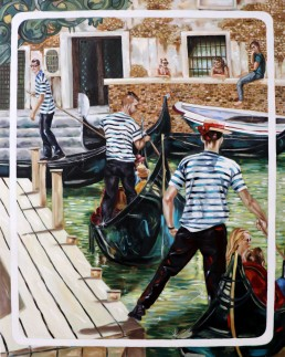 Gondoliers 1 by Claudio Bindella
