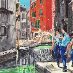 Dancing in Venice 1 by Claudio Bindella