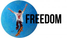 freedom, one of the 8 categories of Claudio Bindella website, mainly acrylic paintings on vinyl