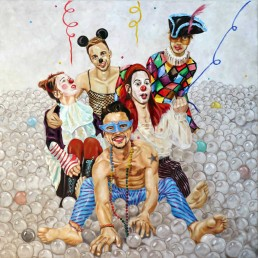Carnival, painting by Claudio Bindella