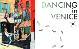 dancing in Venice, markers drawings by Claudio Bindella, cover page
