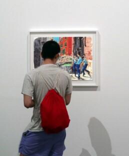 Dancing in Venice drawings exhibition by Claudio Bindella